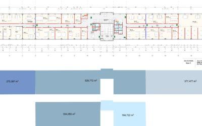 Teilbare helle lichtdurchflutete Büroflächen 195-1800 m²